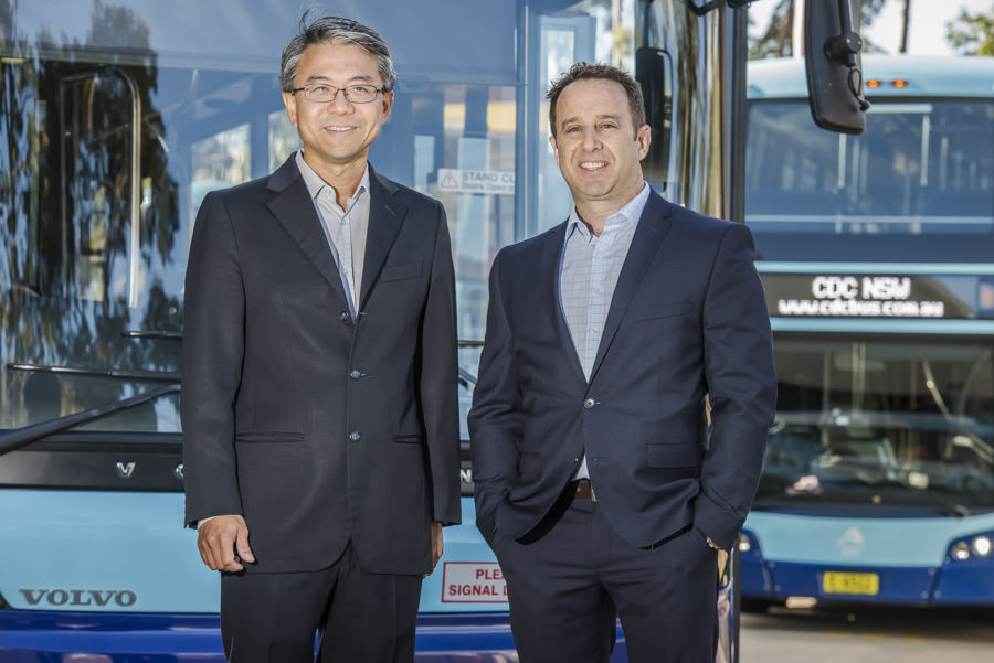 SK Cheng, CEO of CDC NSW & Clive Rogers, Managing Director of FleetSafe