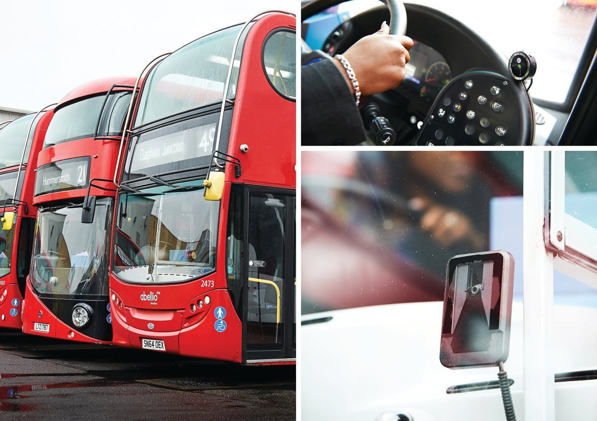 Abellio london bus Equipped with Mobileye collision avoidance system
