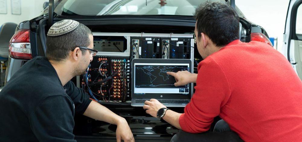 Computers in the trunk of Mobileye's autonomous development vehicle