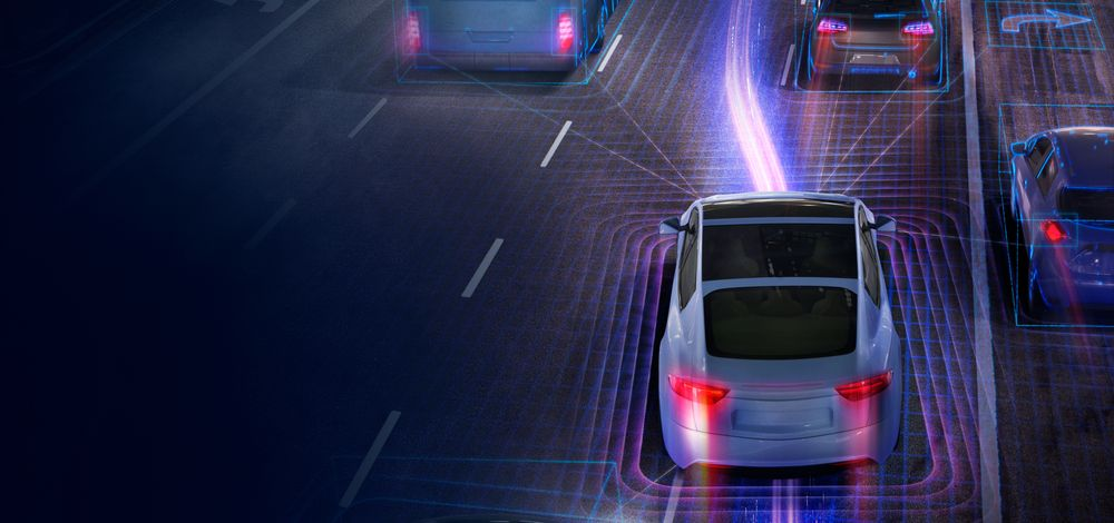 An illustration of Highway Assist ADAS functions like those supported by Mobileye