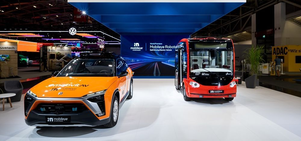 Mobileye robotaxi and Transdev i-Cristal shuttle on display at IAA Mobility 2021