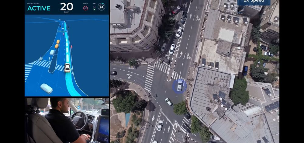 A screen capture from the 40-minute video showing Mobileye's autonomous vehicle driving through the streets of Jerusalem