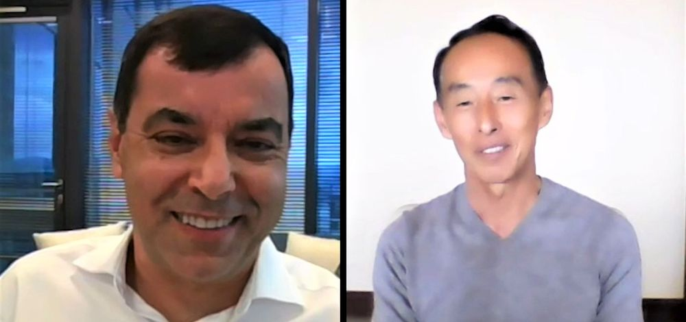 Mobileye CEO Prof. Amnon Shashua in video conference with Samsung Electronics president Young Sohn.