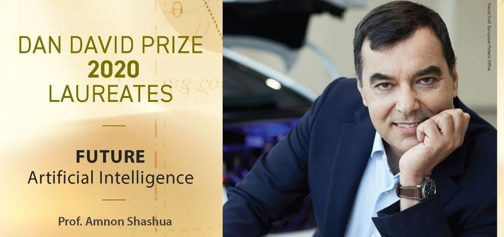 Mobileye CEO Prof. Amnon Shashua wins the 2020 Dan David Prize