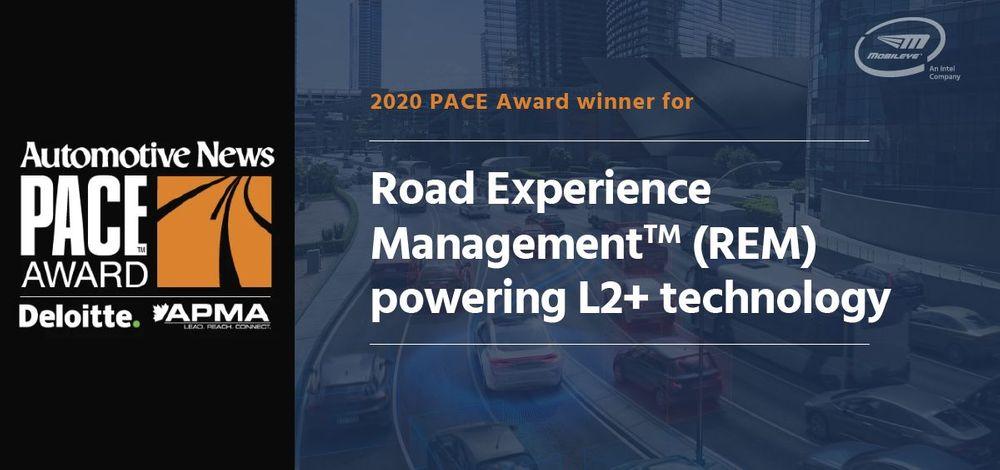 Mobileye REM 2020 PACE Award