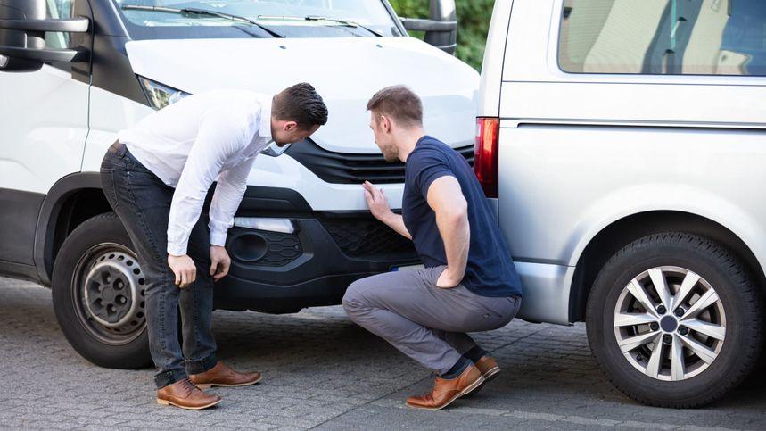 fleet professionals assessing a rear-end collision